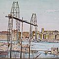 Marseille 1- le pont trasbordeur Fort St Jean - Cathédrale