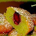 petits moelleux à la pistache