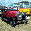 La ford model a cabriolet de 1929 (4ème fête autorétro étang d' ohnenheim)