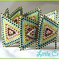 Triangles en bracelet