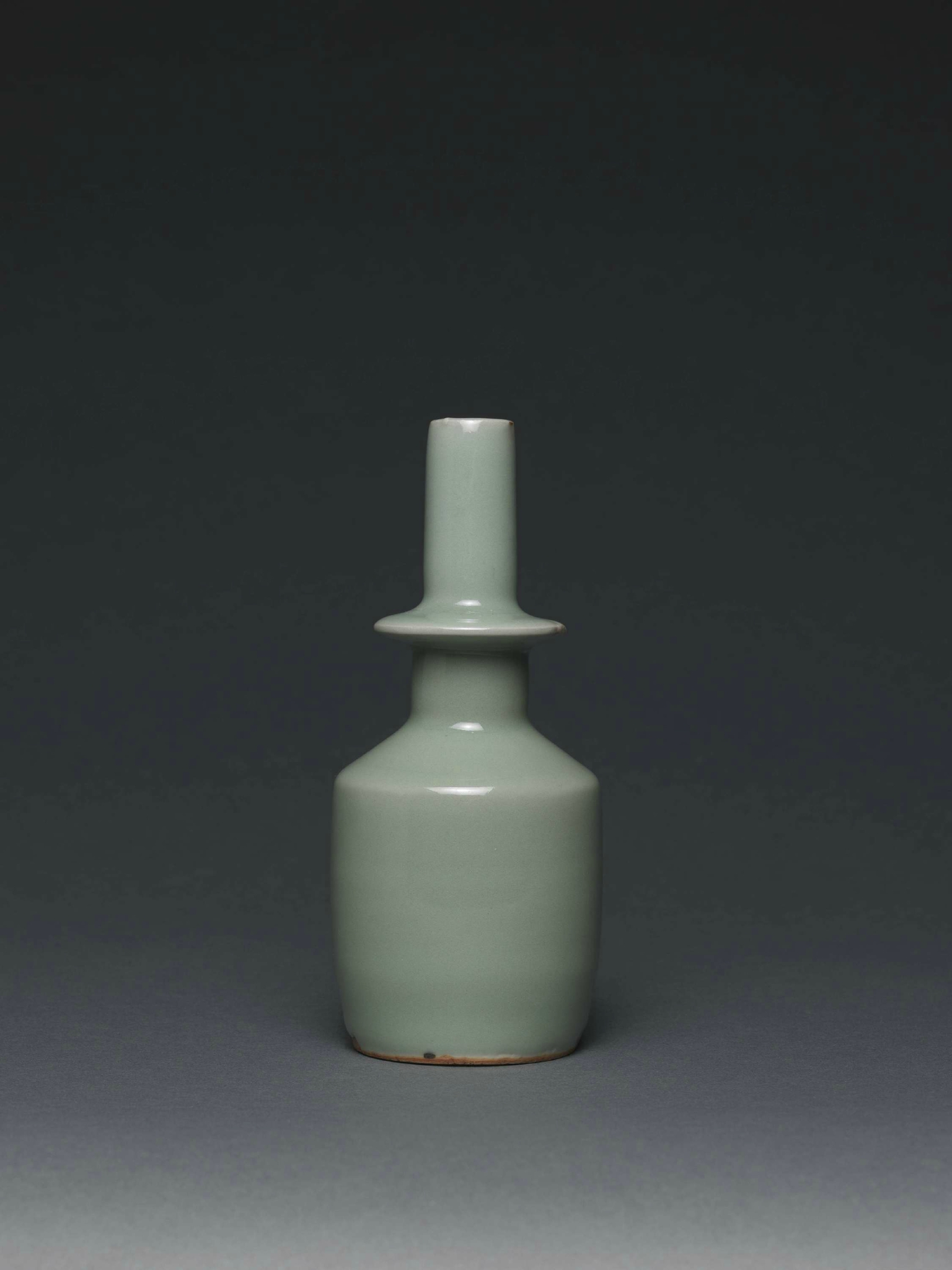 Longquan celadon collared water sprinkler ('daji ping'), China, Longquan kilns, Zhejiang province, late Southern Song dynasty (1127-1279) or early Yuan dynasty (1279-1368), 13th century