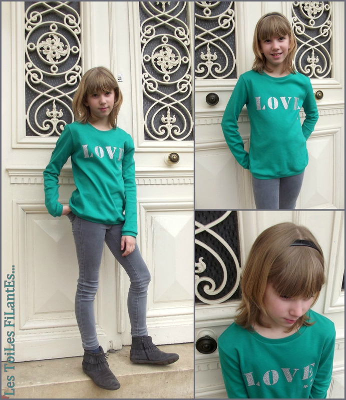 Tee-shirt vert LOVE