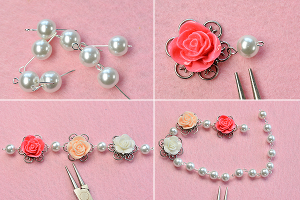 how-to-make-a-beaded-flower-necklace-with-white-pearl-beads-and-ribbon-bowknot-6