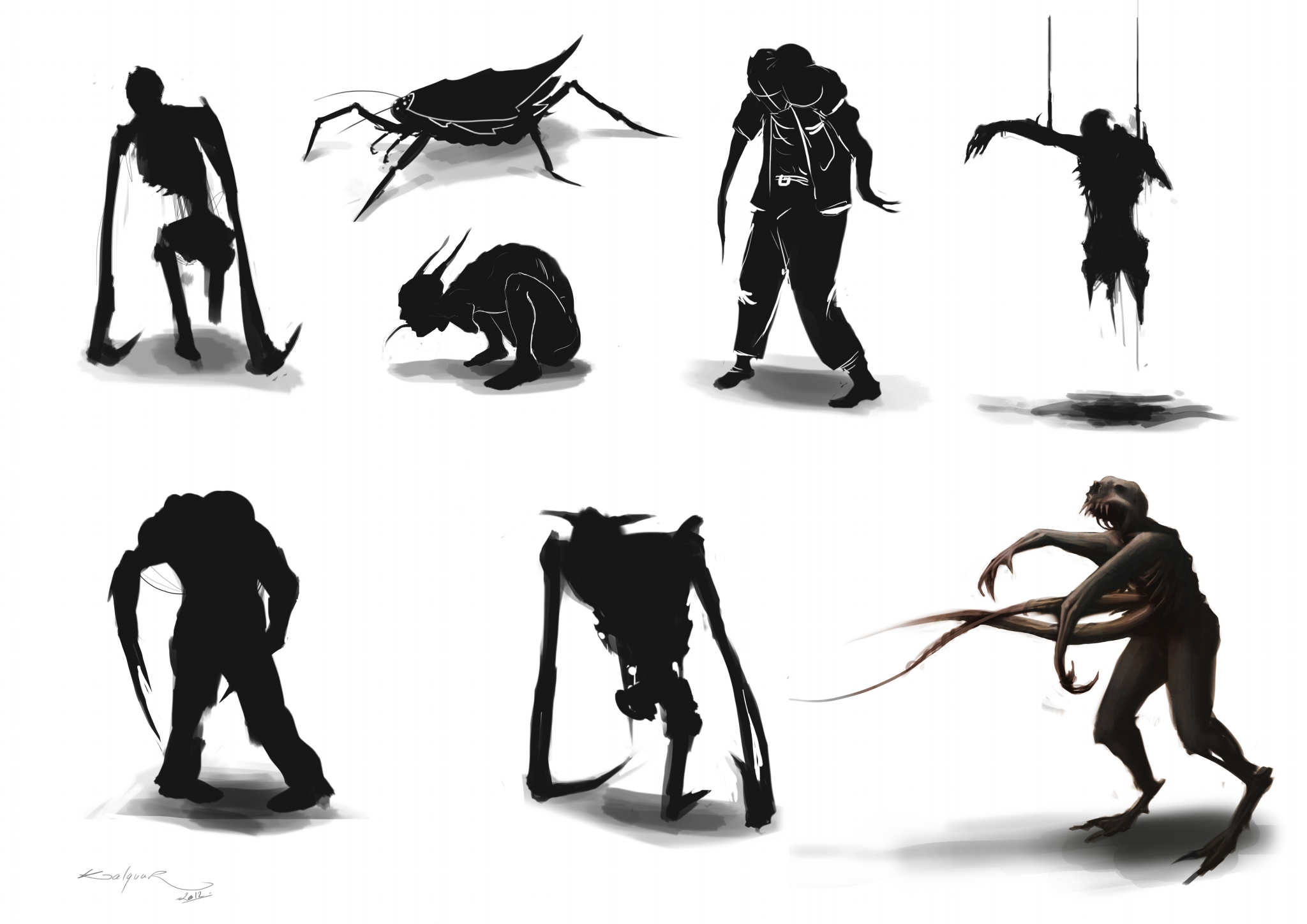 planche silhouette monstre
