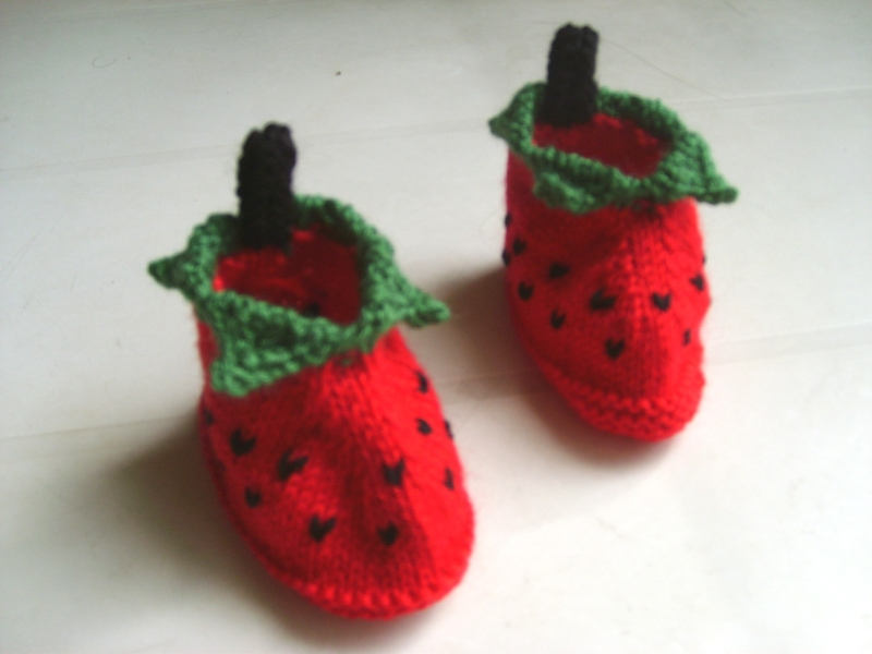 Chaussons Fraise 002