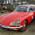 Citroën ds 20 break ambulance pompier 1969-1975