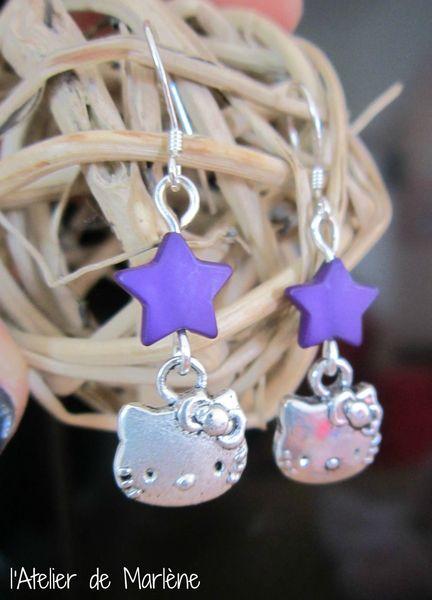 BO Kitty violette étoilées