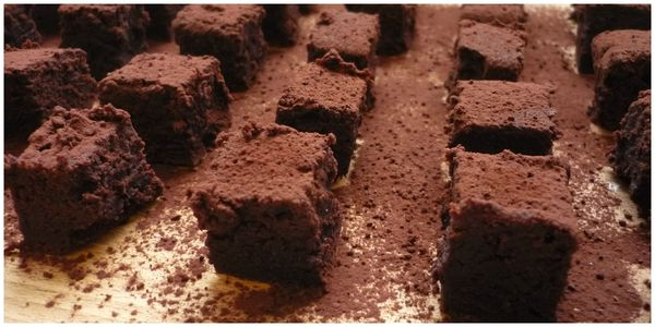 gâteau cube+cacao