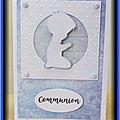 Carte communion garçon (bleu)