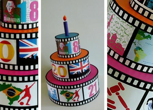 Gâteau d'anniversaire,18, 20, 21 ANS