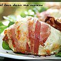 P'tites boulettes de poulet, mozzarella et poitrine fumée