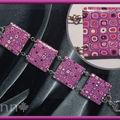 Bracelet Fimo multi rose mauve LILI (N)