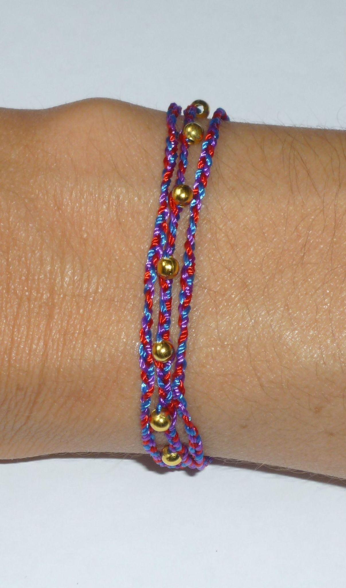 Bracelet-collier doré tissé '2-en-1'