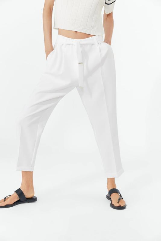 2019 0214 Zara Monaco - Pantalon blanc