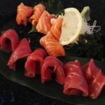 Sashimis thon et saumon