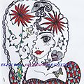 necklace zentangle girl d
