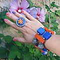 BIG bracelet orange et bleu (Br47)