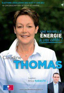 Affiche Claudine Thomas