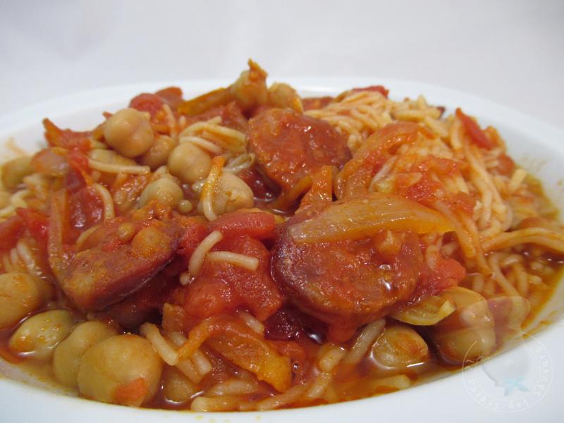 Soupe tomates, pois chiches, chorizo
