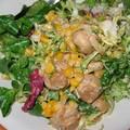 Salade maïs et champignons