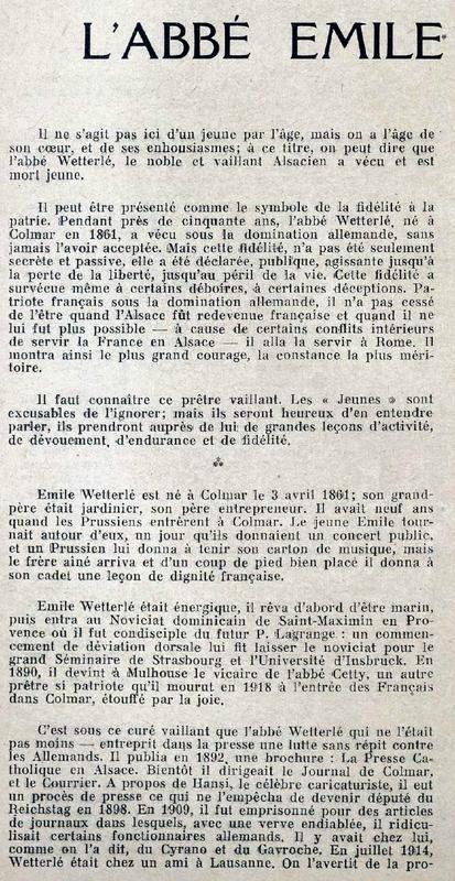 Abbé Wetterlé 1924-1