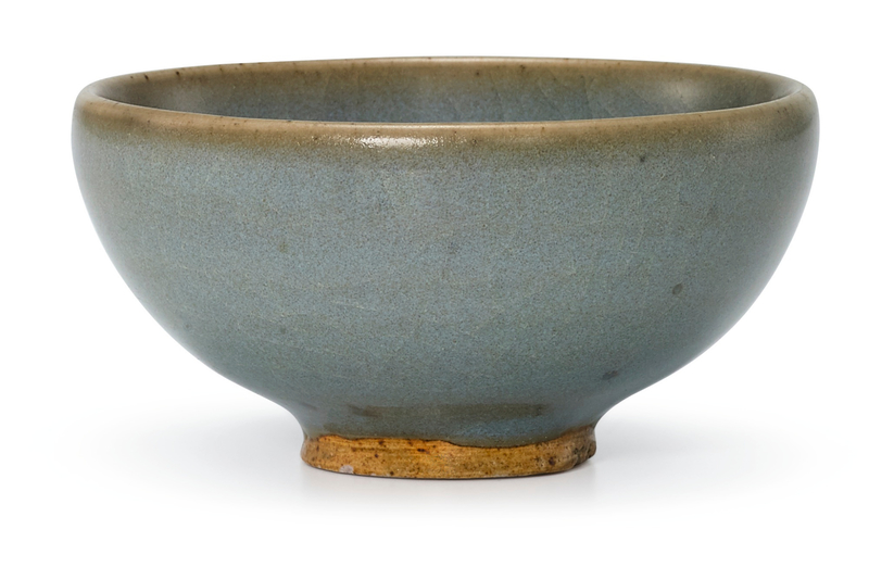 A small Junyao blue-glazed bowl, Song dynasty (960-1279)