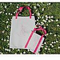 20140417 Tote bag lapin origami rose 3 bis