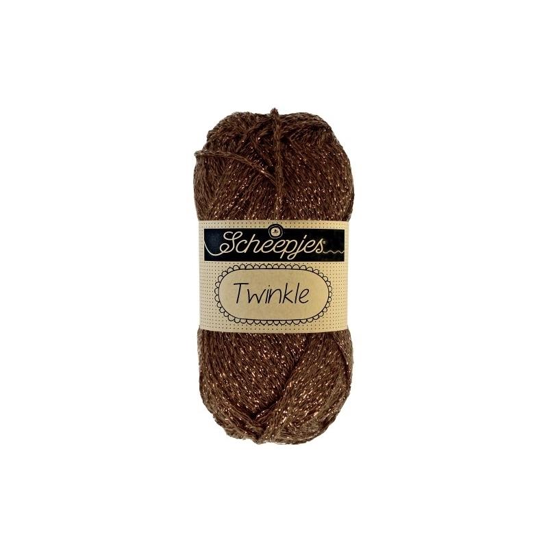 coton-scheepjes-twinkle-marron-or-n-939