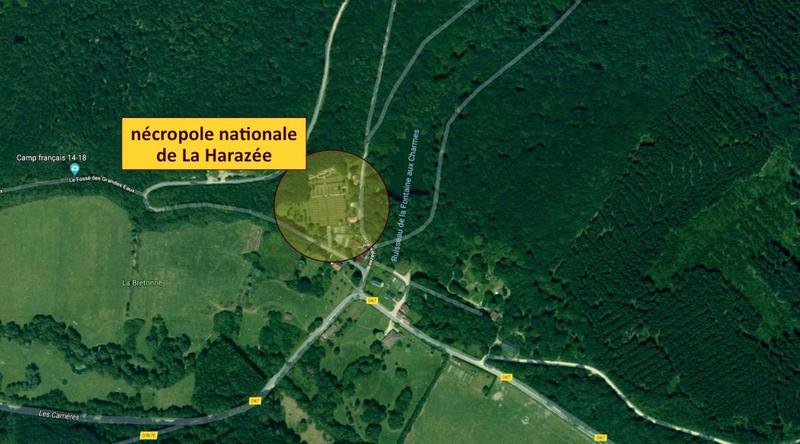 La Harazée, vue aérienne, légendé