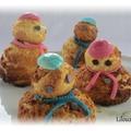 Bonhommes de neige en pâte à choux
