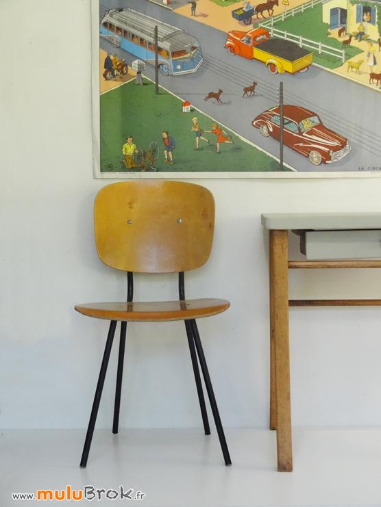 CHAISE-ENFANT-PIEDS-METAL-Bureau-Baumann-3-muluBrok-Vintage