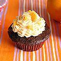 Cupcakess chocolat orange et pépites de chocolat blanc