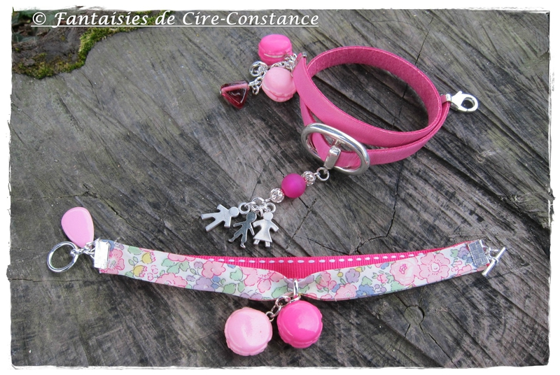 bracelets Flo Love Family parents enfant et duo lib sellier macarons