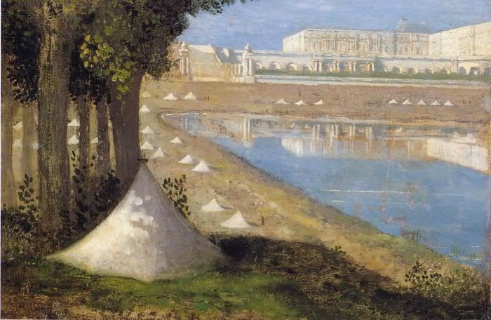 Puvis, vue sur le chateau de Versailles et l'orangerie (1871)