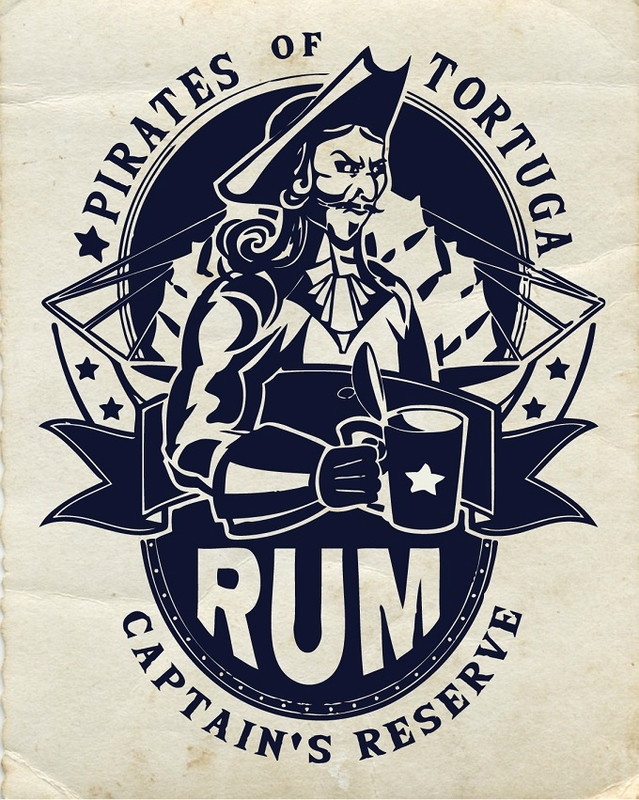 label rum pirate