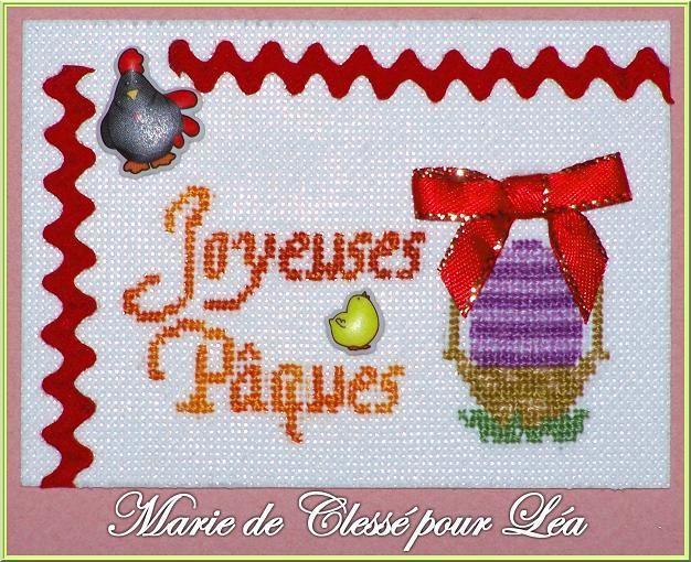 ATC Pâques Les Doigts de Caro Marie de Clessé pour Léa 1
