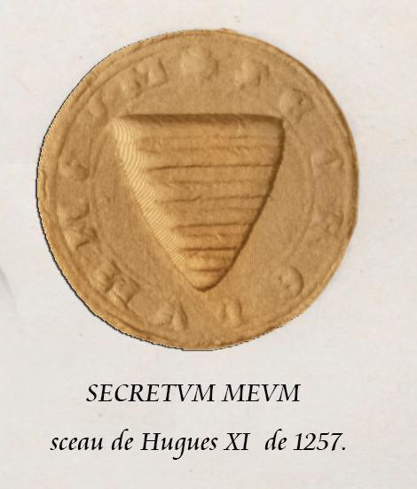 sceau de Hugues XI de Lusigna de 1257