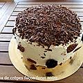 Gâteau de crepes façon foret noire