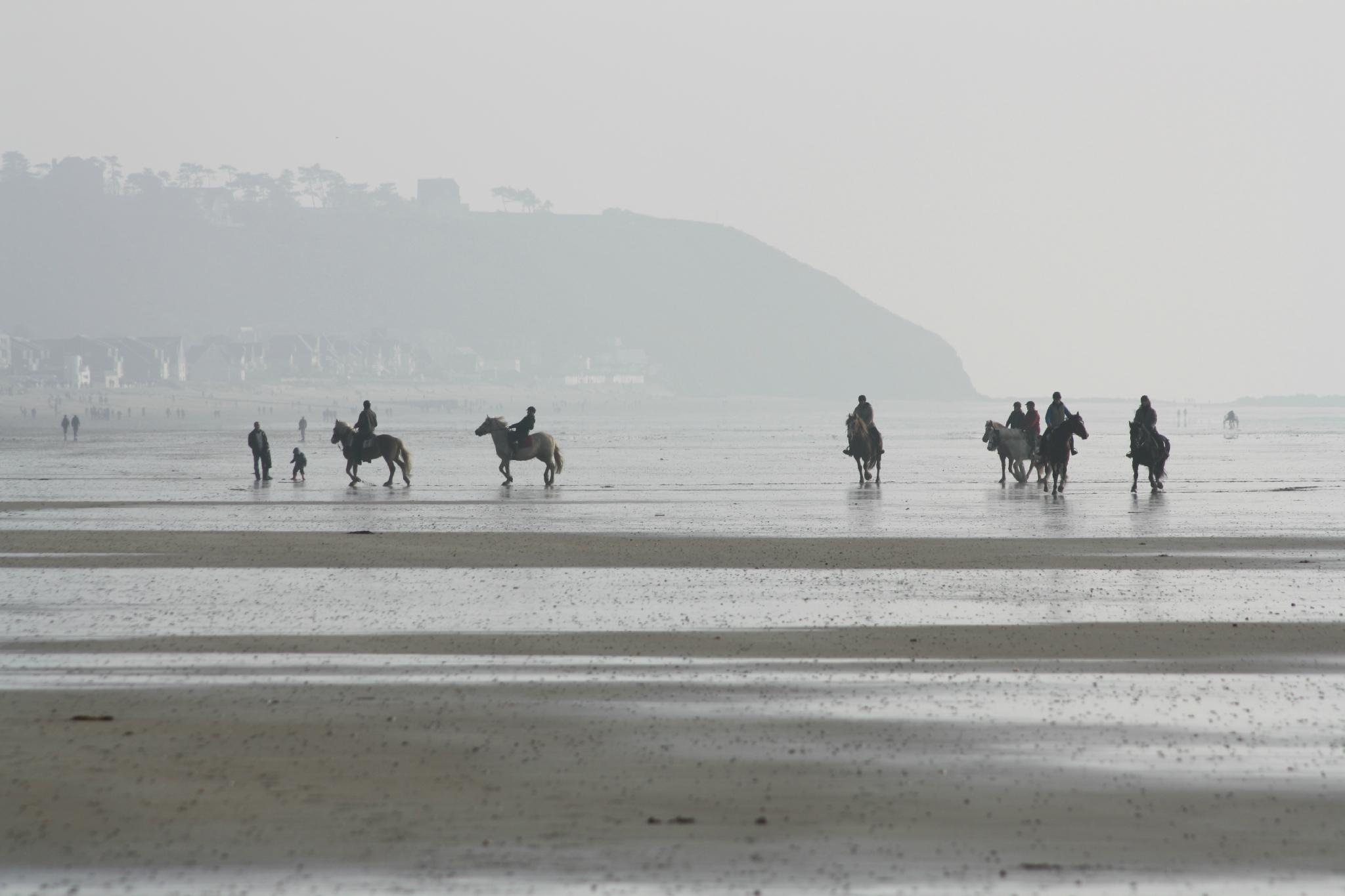 10 devant les falaises de champeaux à cheval