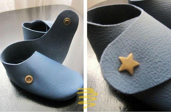 chaussons croisés cuir 3