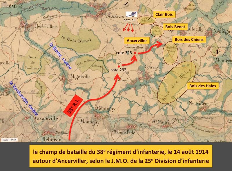 champ de bataille Ancerviller, 14 août 1914