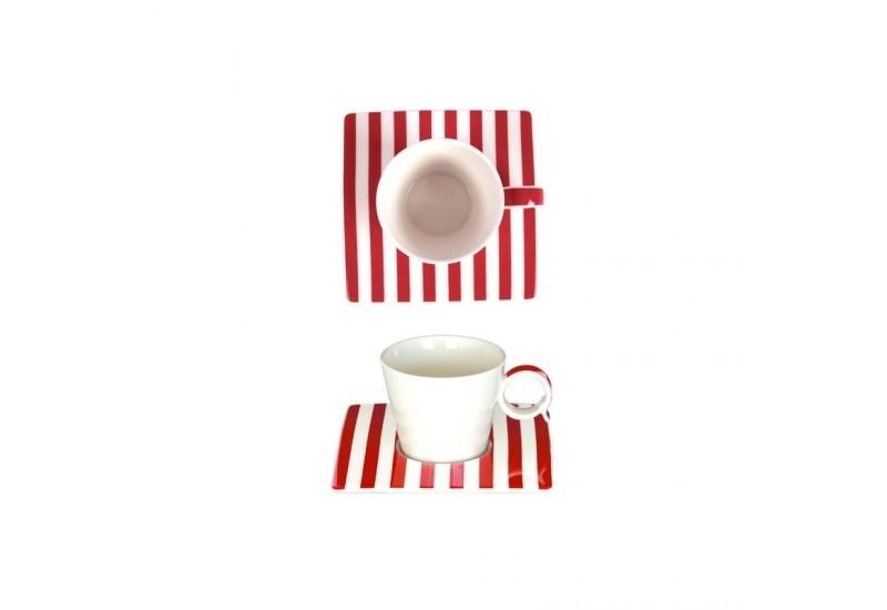 tasse-expresso-12cl-et-sous-tasse-carree-freshness-lines-rouge-bruno-evrard-creation
