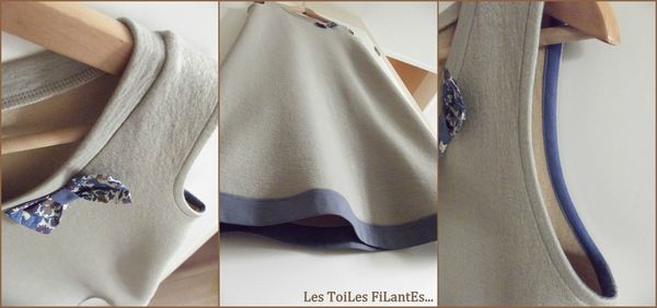 Robe jersey de laine taupe beige3