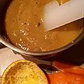 Cuisine des restes: soupe 'thaï' et dessert rapide