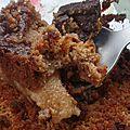 Crumble poires anciennes-chocolat à la farine de châtaigne. (sans gluten)