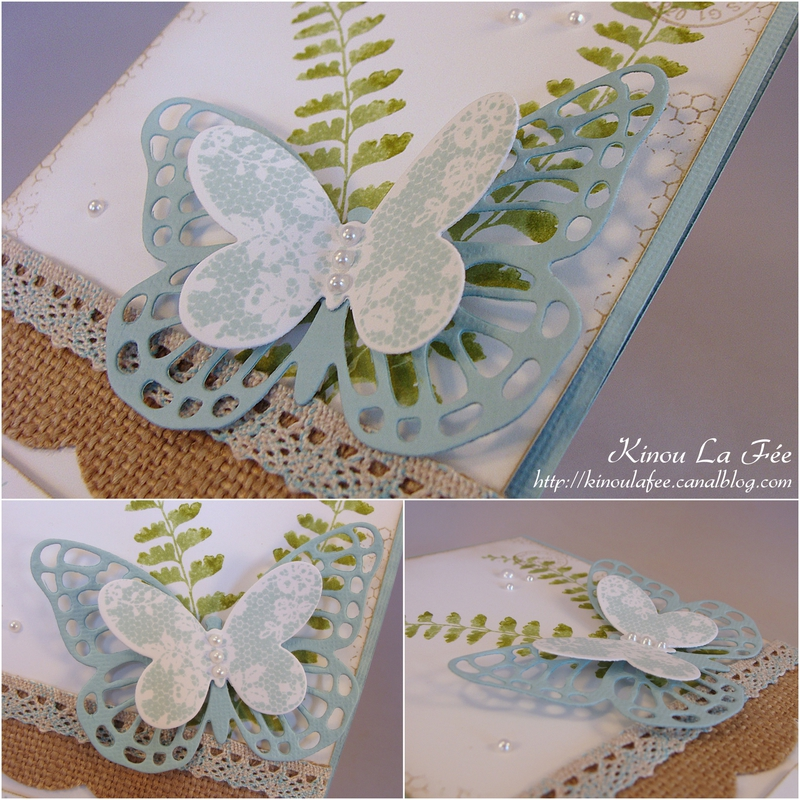 Carte Simplement Papillon ciel et kraft 2