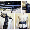 Une ceintureen cravates pour Vio