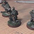 Quelques figurines de commandos rebelles pour star wars : legion
