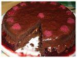 Moelleux au chocolat (5) floutée profondeur du champ