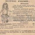 Réclame: poupée bleuette 1905